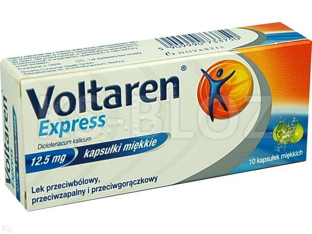Voltaren Express interakcje ulotka kapsułki miękkie 0,0125 g 10 kaps.