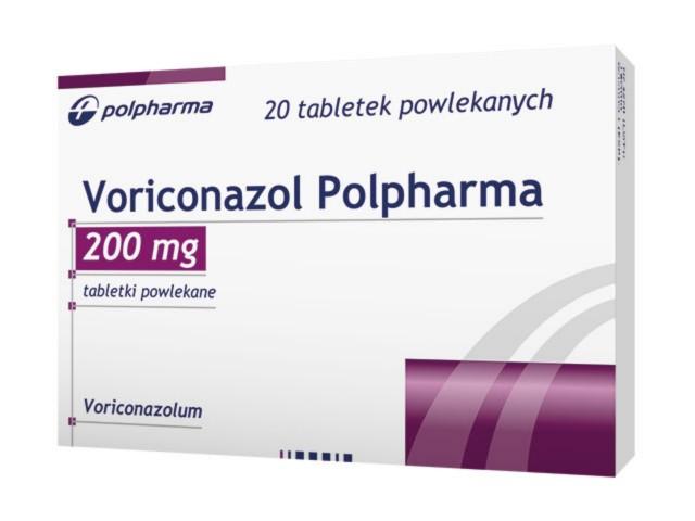 Voriconazol Polpharma interakcje ulotka tabletki powlekane 0,2 g 20 tabl.