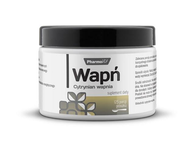 Wapń Cytrynian wapnia interakcje ulotka proszek  250 g