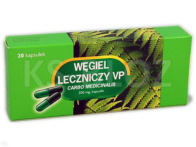 Węgiel leczniczy VP interakcje ulotka kapsułki 0,2 g 20 kaps.