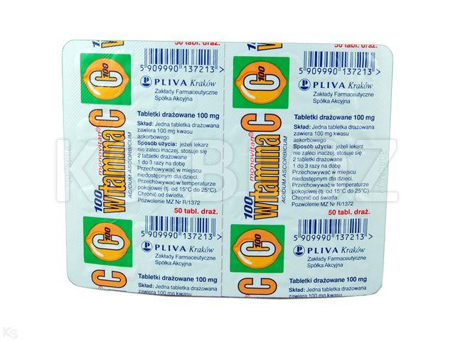 Witamina C monovitan interakcje ulotka tabletki drażowane 0,1 g 50 tabl.
