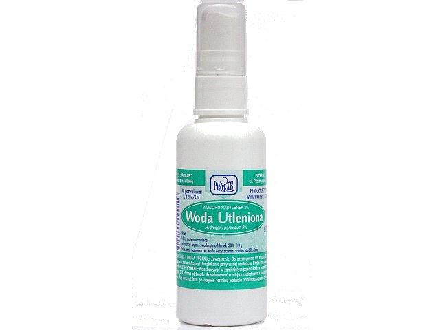 Woda Utleniona PROLAB interakcje ulotka roztwór na skórę, roztwór do płukania jamy ustnej 3 % 50 g