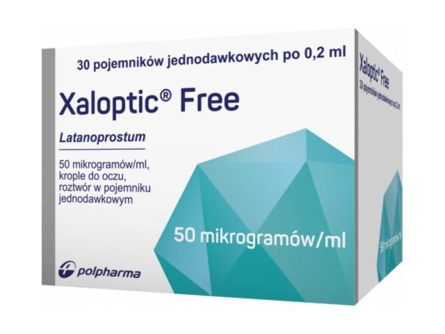 Xaloptic Free interakcje ulotka krople do oczu, roztwór 0,05 mg/ml 30 poj. po 0.2 ml