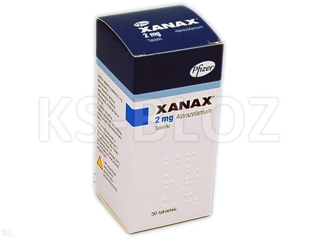 Xanax interakcje ulotka tabletki 2 mg 30 tabl.