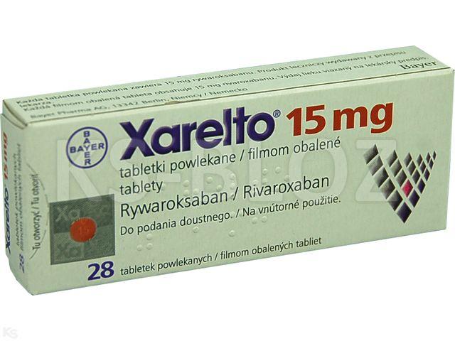 Xarelto 15 interakcje ulotka tabletki powlekane 0,015 g 28 tabl.