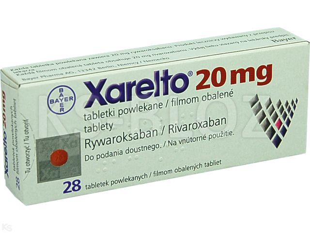 Xarelto 20 interakcje ulotka tabletki powlekane 0,02 g 28 tabl.