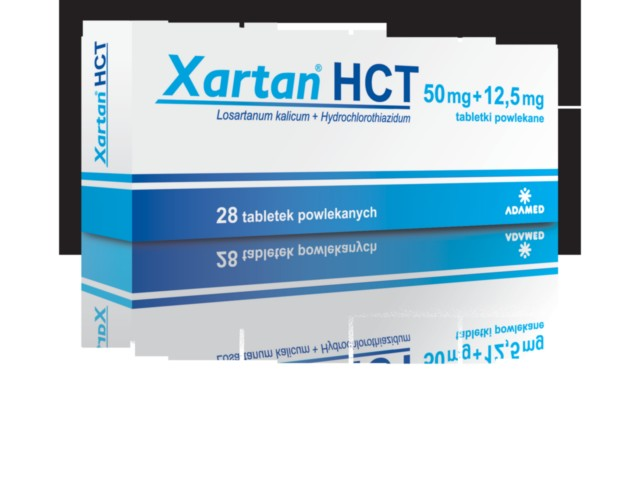 Xartan HCT interakcje ulotka tabletki powlekane 0,05g+0,0125g 28 tabl.