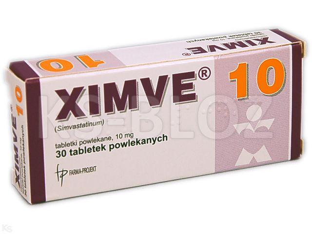 Ximve interakcje ulotka tabletki powlekane 0,01 g 30 tabl.