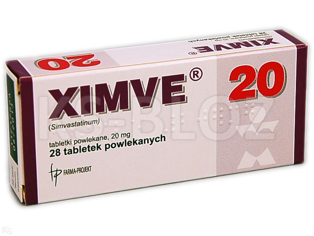 Ximve interakcje ulotka tabletki powlekane 0,02 g 28 tabl.
