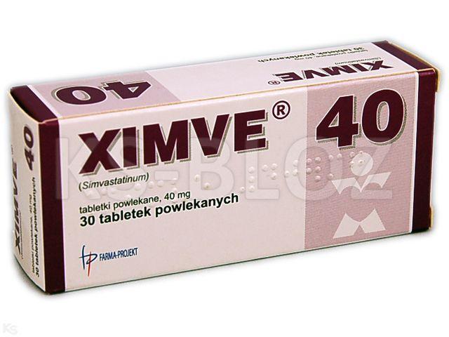 Ximve interakcje ulotka tabletki powlekane 0,04 g 30 tabl.