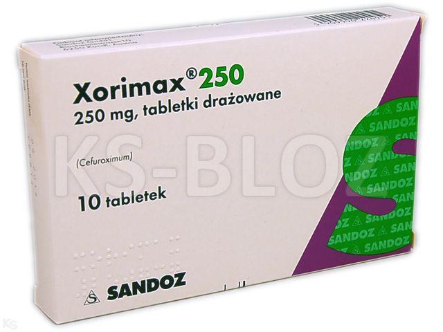 Xorimax 250 interakcje ulotka tabletki drażowane 0,25 g 10 tabl.