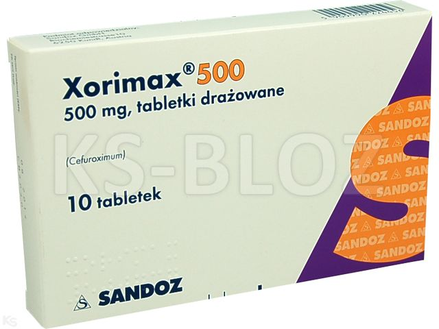Xorimax 500 interakcje ulotka tabletki drażowane 0,5 g 10 tabl.