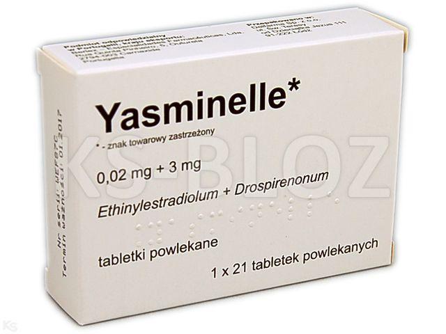 Yasminelle interakcje ulotka tabletki powlekane 0,02mg+3mg 21 tabl.