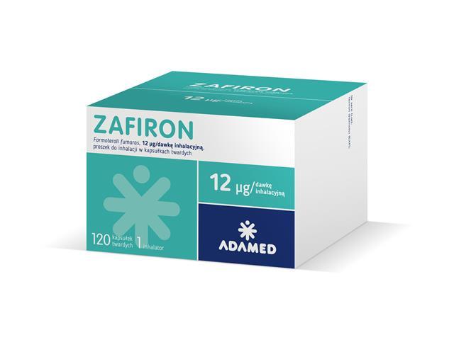 Zafiron interakcje ulotka proszek do inhalacji w kapsułkach twardych 0,012 mg/daw. inh. 120 kaps.