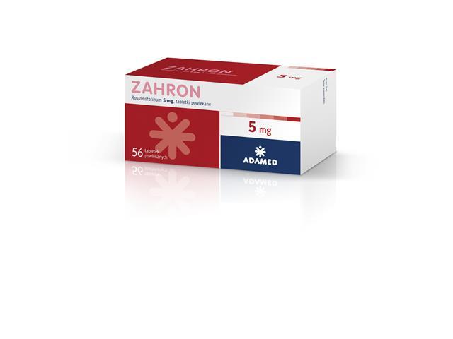 Zahron interakcje ulotka tabletki powlekane 5 mg 56 tabl.