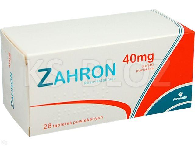 Zahron interakcje ulotka tabletki powlekane 0,04 g 28 tabl.