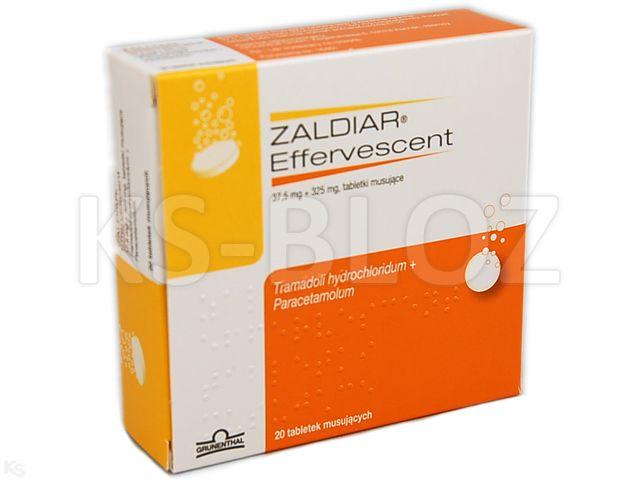 Zaldiar Effervescent interakcje ulotka tabletki musujące 0,0375g+0,325g 20 tabl.