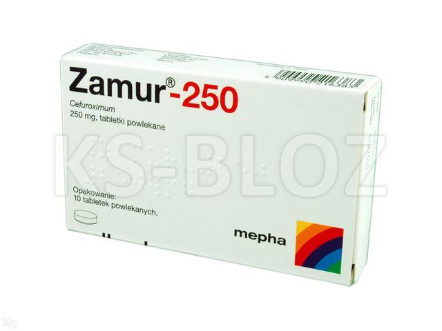 Zamur 250 interakcje ulotka tabletki powlekane 0,25 g 10 tabl.