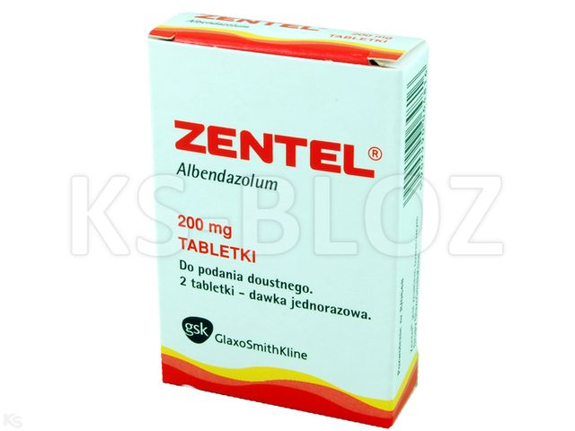 Zentel interakcje ulotka tabletki powlekane 0,2 g 2 tabl.