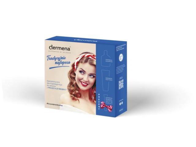 Zestaw DERMENA (szamp.+odżywka) + DERMENA REGENAIL Serum w prezencie interakcje ulotka   200 ml