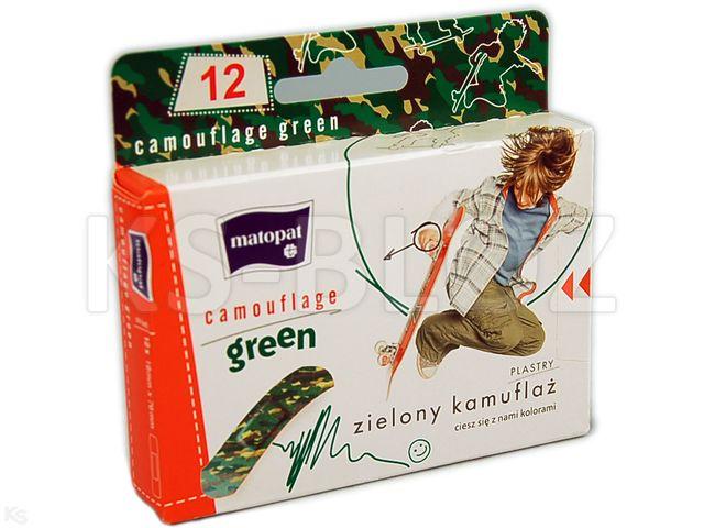 Zestaw MATOPAT CAMOUFLAGE GREEN interakcje ulotka plaster  12 szt.