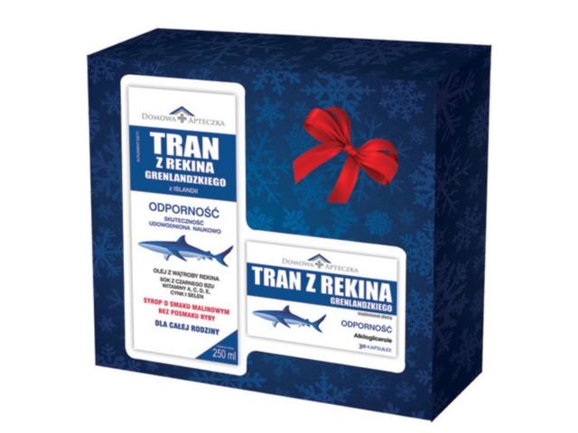 Zestaw Prezentowy Tran z rekina grenlandzkiego interakcje ulotka   250 ml | +30 kaps.