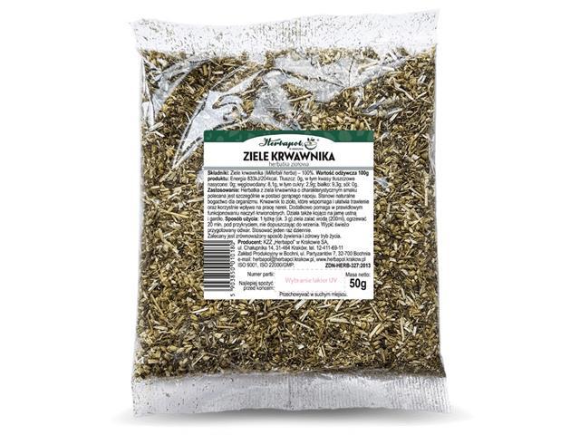 ZIELE KRWAWNIKA Herbatka ziołowa interakcje ulotka   50 g