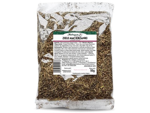 ZIELE MACIERZANKI Herbatka ziołowa interakcje ulotka   50 g