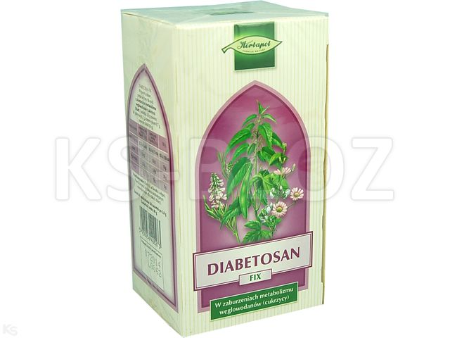 Zioł.fix Diabetosan interakcje ulotka   20 sasz. po 2 g