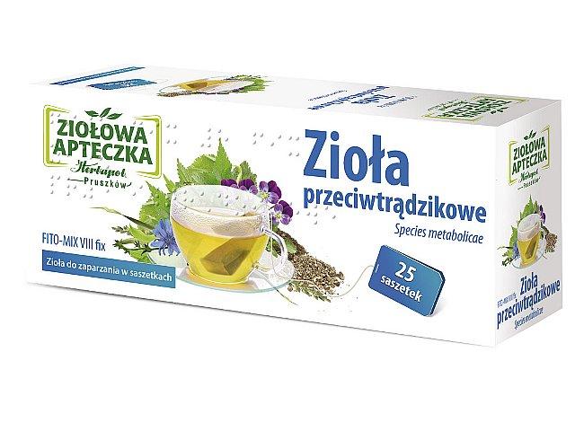 Zioł.fix FITO-MIX 8 p/trądz. interakcje ulotka zioła do zaparzania w saszetkach 2 g 25 toreb.