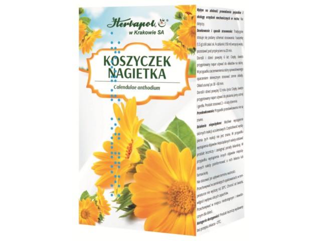 Zioł.fix Koszyczek Nagietka interakcje ulotka zioła do zaparzania w saszetkach 1,5 g 25 toreb.