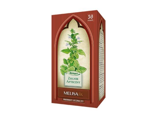 Zioł.fix Liść Melisy interakcje ulotka zioła do zaparzania w saszetkach 2 g 30 toreb.