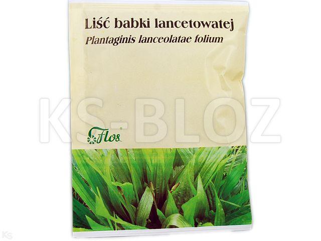 Zioł.Liść Babki lancet. interakcje ulotka zioła do zaparzania  50 g