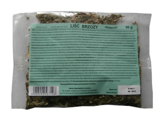 Zioł.Liść Brzozy interakcje ulotka zioła do zaparzania 1 g/g 50 g