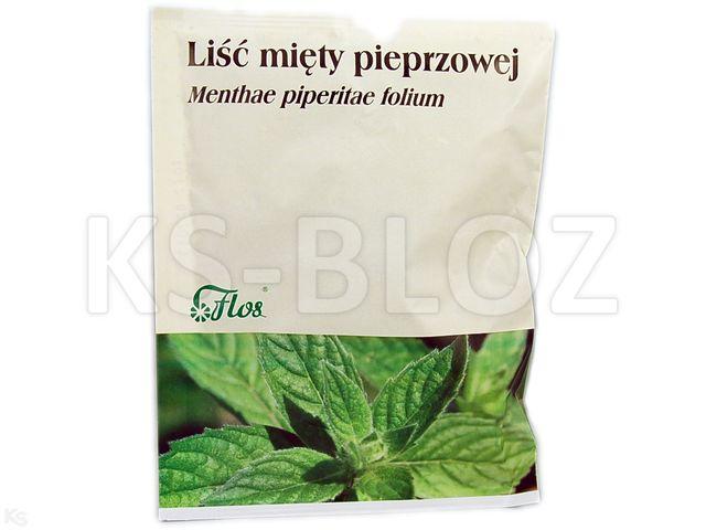 Zioł.Liść Mięty pieprzowej interakcje ulotka zioła do zaparzania  50 g