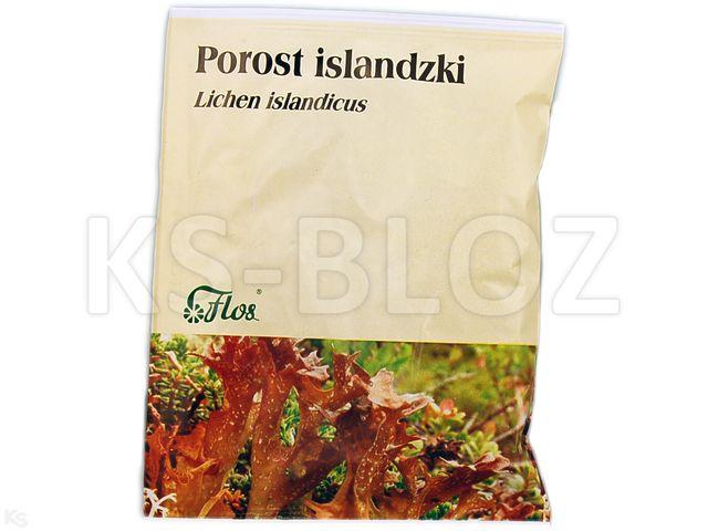 Zioł.Porost islandzki interakcje ulotka zioła do zaparzania  50 g