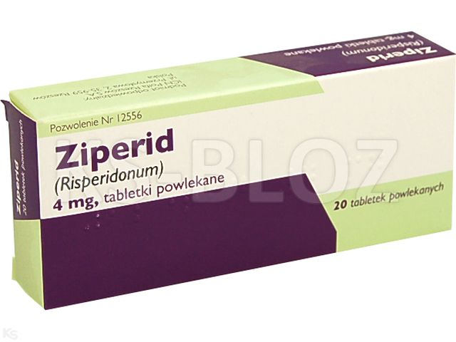 Ziperid interakcje ulotka tabletki powlekane 4 mg 20 tabl. | 2 blist.po 10 szt.