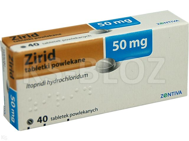 Zirid interakcje ulotka tabletki powlekane 0,05 g 40 tabl.