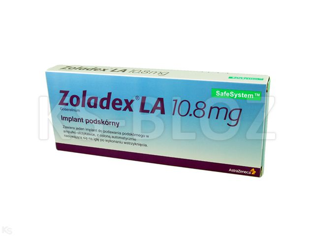Zoladex La interakcje ulotka implant podskórny 0,0108 g 1 amp.-strz.