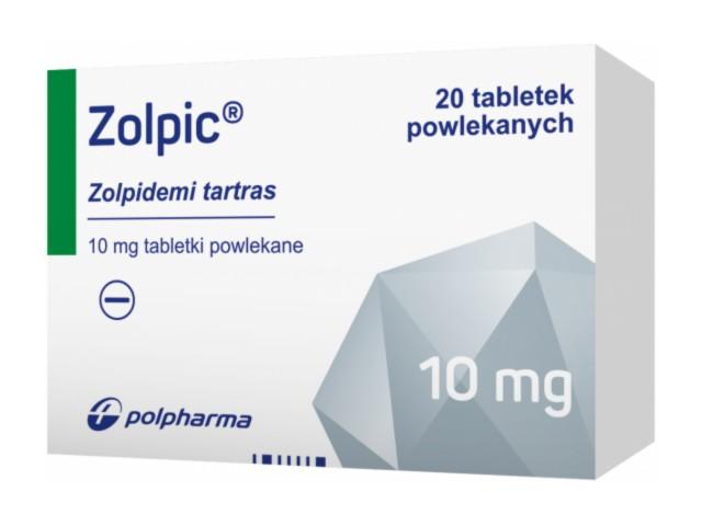 Zolpic interakcje ulotka tabletki powlekane 0,01 g 20 tabl.
