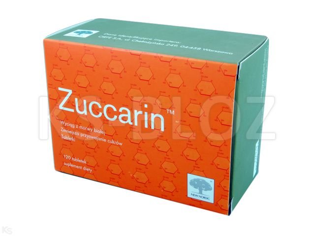 Zuccarin interakcje ulotka tabletki  120 tabl.