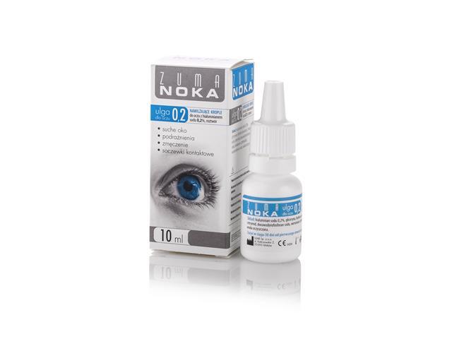 ZUMA Ulga dla oczu Krople z hialuronianem sodu 0,2% interakcje ulotka   10 ml