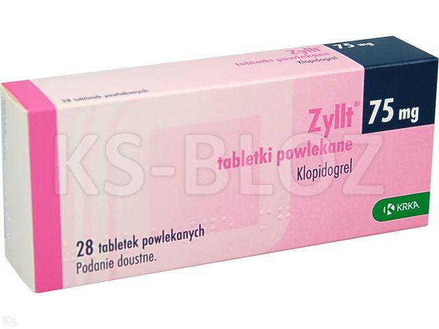 Zyllt interakcje ulotka tabletki powlekane 0,075 g 28 tabl. | blist.OPA/AL/PVC